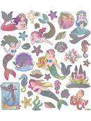 Kreatívne nálepky - morské panny