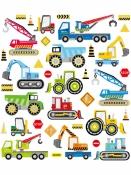 Kreatívne nálepky - stavebné autá