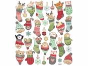 Kreatívne nálepky - vianočné zvieratká