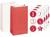 Adventný kalendár - papierové vrecúška