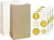 Adventný kalendár - papierové vrecúška - prírodný