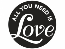 Pečiatka do mydla, sádry -  All you need is Love