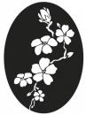Pečiatka do mydla, sádry -  čerešňový kvet