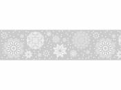 Vianočná lepiaca páska na okno - vločky
