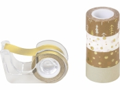 Dekoračná lepiaca páska - zlatá