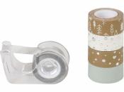 Dekoračná lepiaca páska - strieborná