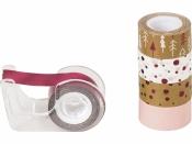 Dekoračná lepiaca páska - medená