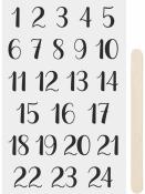 Transférové nálepky - adventné čísla - čierne