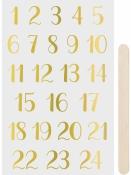 Transférové nálepky - adventné čísla - zlaté