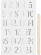 Transférové nálepky - adventné čísla - strieborné