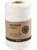 Macramé bavlnený špagát 2 mm - prírodný biely