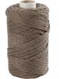 Macramé bavlnený špagát 2 mm - svetlý hnedý