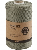 Macramé bavlnený špagát 2 mm - machový zelený