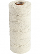 Bavlnený špagát 1 mm - prírodný biely