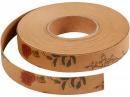 Kožený papierový pás prírodný s kvietkami - 15mm