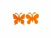 Filcový výrez - motýľ - oranžový