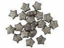 Glitrované mini hviezdičky - 20 kusov - strieborné