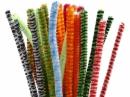 Žinilkový drôt 6 mm - farebný pruhovaný mix - 30ks