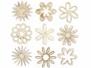 Dýhové výrezy - 45 ks - kvety