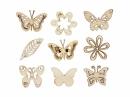 Dýhové výrezy - 45 ks - motýle