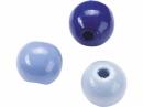 Drevené korálky 8 mm mix - 85 ks - modré