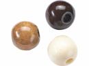 Drevené korálky 4 mm mix - 165ks - hnedé