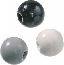 Drevené korálky 8 mm mix - 85 ks - čierne