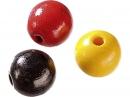 Drevené korálky 8 mm mix - 85 ks