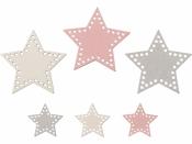 Drevené výrezy - 54 ks - hviezdy