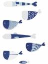 Drevené nálepky - 14 ks - rybičky