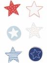 Drevené nálepky - 12 ks - hviezdy
