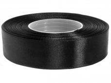 Saténová stuha - 25mm - čierna