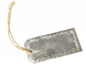 Kovový štítok s ornamentom 7x3,5cm