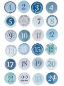 Adventné čísla cabochony 24ks