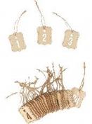 Adventné čísla drevené štítky 1-24