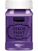 Akrylová vintage farba Dekor Paint - 100 ml - baklažánová