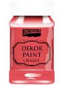Akrylová vintage farba Dekor Paint - 100 ml - červená