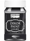 Akrylová vintage farba Dekor Paint - 100 ml - ebenová čierna