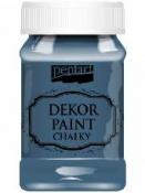Akrylová vintage farba Dekor Paint - 100 ml - námornícka modrá