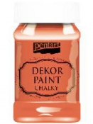 Akrylová vintage farba Dekor Paint - 100 ml - oranžová