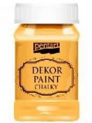 Akrylová vintage farba Dekor Paint - 100 ml - slnečnicová žltá