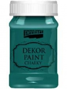 Akrylová vintage farba Dekor Paint - 100 ml - smaragdová