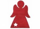 Drevený výrez anjel 4cm - červený