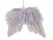 Anjelské krídla 16 x 13 cm - vintage sivé
