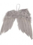 Anjelské krídla 20 cm - vintage sivé