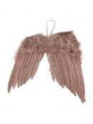 Anjelské krídla 15 cm - vintage ružové