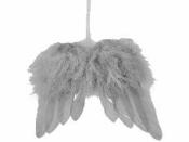 Anjelské krídla z pierok 10cm - sivé