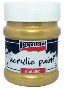 Metalická akrylová farba 230 ml - antická zlatá