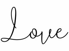 Drevená pečiatka - Love