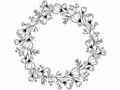 Drevená pečiatka - kruh maky